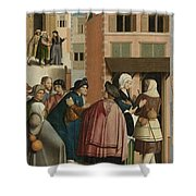 The Seven Works Of Mercy Shower Curtain
