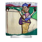 The Seventh Hole I Did It My Way Shower Curtain
