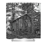 The Shack In Black And White Shower Curtain