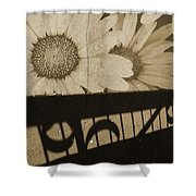 The Shadow Flowers Shower Curtain