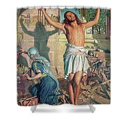 The Shadow Of Death Shower Curtain by William Holman Hunt