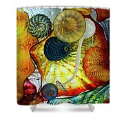 The Shape Of Color 3 Shower Curtain