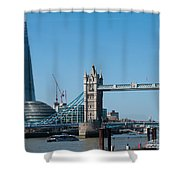 The Shard With Tower Bridge Shower Curtain
