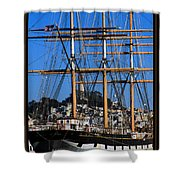 The Ship Balclutha Shower Curtain