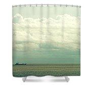 The Ship IIi Shower Curtain