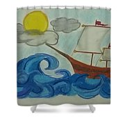 The Ship Shower Curtain