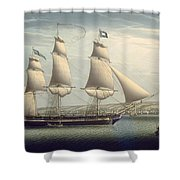 The Ship -favorite-maneuvering Off Greenock Shower Curtain