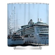 The Ships Are In Shower Curtain