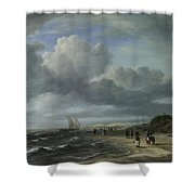 The Shore At Egmond Aan Zee Shower Curtain