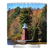The Shoul Point Lighthouse Shower Curtain
