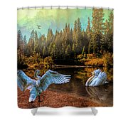 The Showoff Shower Curtain