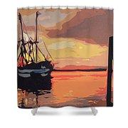 The Shrimp Boat Shower Curtain