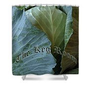The Shy Cabbage The Keg Room Old English Hunter Green Shower Curtain