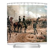 The Siege Of Atlanta Shower Curtain by War Is Hell Store