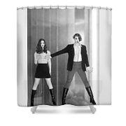The Silent Dare - Self Portrait Shower Curtain