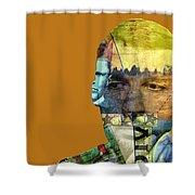 The Silent Type Shower Curtain