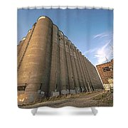 The Silo Effect Shower Curtain
