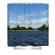 The Silver Bullet - Little Silver Boat Speeding Along Shower Curtain