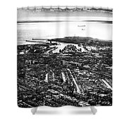 The Silver City Shower Curtain