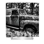 The Silver Ghost Shower Curtain