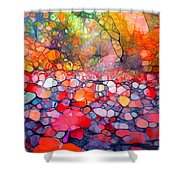 The Simple Dreams Of Fallen Leaves Shower Curtain