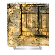 The Simple Life Shower Curtain by Meirion Matthias