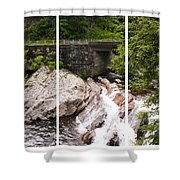 The Sinks Smoky Mountains Triptych Shower Curtain