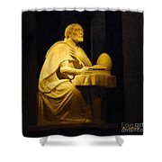 The Sinner Who Became A Saint Shower Curtain