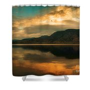 The Skaha Sunrise Shower Curtain