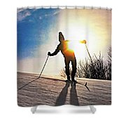 The Skier Shower Curtain