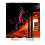 The Skies Are Dark Shower Curtain by Guy Ricketts