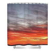 The Sky Is Smoking Hot In Widescape Shower Curtain
