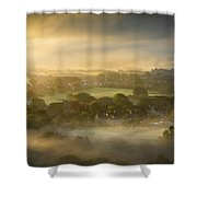 The Sky Kissed The Land Shower Curtain