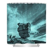 The Sky Seemed To Be Imperturbable At First.  Shower Curtain