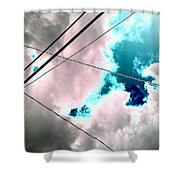 the sky...She came to me  Shower Curtain