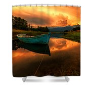 The Sky's On Fire Shower Curtain