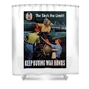 The Sky's The Limit - Ww2 Shower Curtain