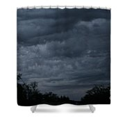 The Skys Watercolor Wash Shower Curtain