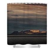 The Sleeping Giant Sunspot Pano Shower Curtain