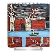 The Small Boat Shower Curtain