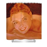 The Smiling Girl Shower Curtain