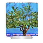The Smiling Tree Of Benitses Shower Curtain