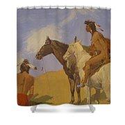 The Smoke Signal 1905 Shower Curtain