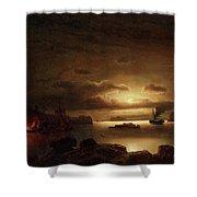 The Smugglers Harbor Shower Curtain