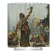 The Snake Charmer Shower Curtain