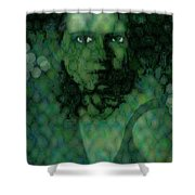 The Snake Lady Shower Curtain