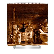 The Snake Oil Shop - Sepia Shower Curtain