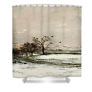 The Snow Shower Curtain by Charles Francois Daubigny