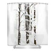The Snow Just Won't Stop Shower Curtain