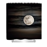 The Snow Moon Is Arising  Shower Curtain